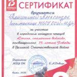 Плишкина Александра, средняя группа