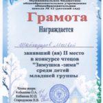 Шайхазаров Матвей, 2 место, младшая группа